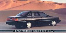 1985 Audi 5000S Turbo 4 Door Sedan Mailer Brochure my3323