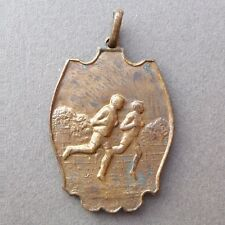 Belgian Medal. Liège 1957. Man, Sport Running. Cross. Art Nouveau. Pendant.