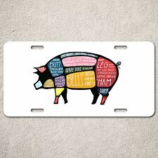 LP0075 Pig Meat Chart Auto Car License Plate Sign Rust Vintage Home Store Decor