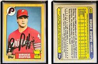Bruce Ruffin Signed 1987 Topps #499 Card Philadelphia Phillies Auto Autograph