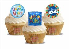 Novelty Welcome Home Balloons Trio Mix Edible Cake Toppers Decorations Celebrate