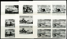 Liberia Stamps # C71-7 IMPERFORATE BLACK PROOFS BLOCKS OF 4