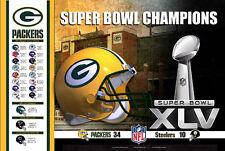 Rare Green Bay Packers SUPER BOWL XLV (2011) CHAMPIONS Commemorative Poster