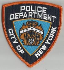 POLICE DEPARTMENT New York Etats Unis écusson à coudre brodé 8.5x9.5 cm