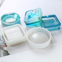 Resin Silicone Coaster Ashtray Mold Jewelry Container Epoxy Mould Tool CraDD