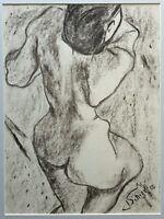 Jolanda Schiavi - Disegno su carta, opera originale del 1952