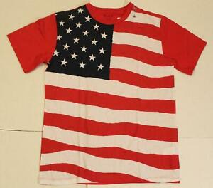 The Children's Place Boy American Flag Short Sleeve T-Shirt RH8 Ruby Size 10/12