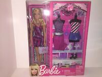 "Blonde Barbie Doll Fashionistas 12"" Mattel BBX43 Accessories Shoes NEW"