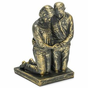 Dicksons Praying Husband and Wife 5 inch Grey Resin Stone Table Figurine