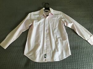 GAP Junior Boys pink long sleeved shirt size 10-11y L excellent condition cotton