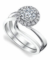 Solitaire D/VVS1 Diamond Cut Engagement Wedding Ring 0.51 Ct 14K White Gold