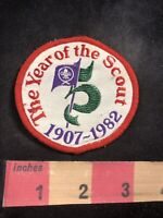 Vtg 1907-1982 THE YEARS OF THE SCOUT Boy Scouts 75th Anniversary Patch 92MB