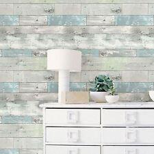 Nuwallpaper-Beachwood Peel & Stick Papier Peint Caractéristique Mur Effet Bois Gratuit P + P