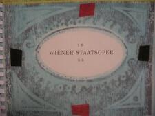 Super Rare 1955 Wiener Staatsoper Opera Book Austria