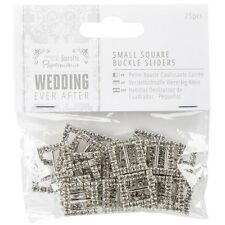 docrafts Papermania Ever After Wedding Buckle Ribbon Sliders - 271752