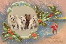 Cairn Terrier Dogs by Arthur Wardle 1920's ~ 8 Large New Christmas Note Cards