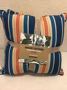 Tommy Bahama Set Of 2 Indoor / Outdoor Decor Pillow Mildew Water Redistant NEW