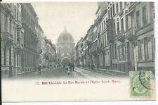 CPA - BRUXELLES - La rue royale et l'Eglise Sainte Marie