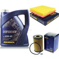 Ölwechsel Set 5L MANNOL Defender 10W-40 Motoröl + SCT Filter KIT 10134867