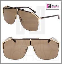 8e32a4d173ad8 GUCCI 0291 SYLVIE Black Tortoise Gold Oversized Shield Sunglasses GG0291S  Unisex