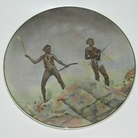 Royal Doulton Aborigines Hunting Weapons Plate D6421 BIN Pre-owned