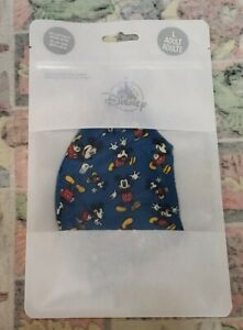 Disney Authentic Cloth Face Mask Size Large Blue Mickey Mouse
