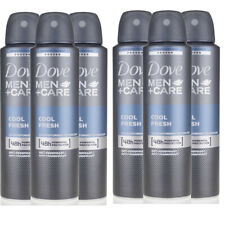 6 Pack Dove Men + Care Cool Fresh 48 HR Antiperspirant Spray for Men 150ml