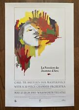 *Carl Th. Dreyer's THE PASSION OF JOAN OF ARC (1928) Filmex Poster Beautiful Art
