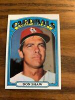 1972 Topps #479 Don Shaw - Cardinals