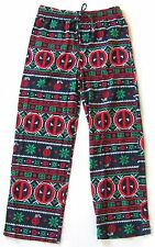 Marvel DEADPOOL Ugly Christmas Sweater LOUNGE PANTS Men's Small 28-30 NEW