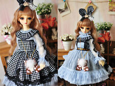1/3 bjd 56-58cm SD girl doll clothes baby blue dress outfits dollfie luts SD-126