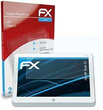 atFoliX 2x Displayschutzfolie für HP Slate 21 Schutzfolie klar Folie