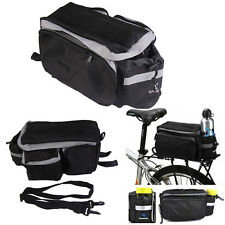 Bicycle Rear Seat Trunk Bag Shoulder Handbag Bag Pannier Multi-functional Black