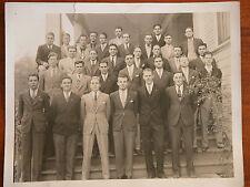 Orig 1940s B&W Photograph Gents Berkeley CA Gentlemen WWII Era