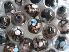 CLEARANCE 15 Round Black Lampwork Glass Beads 14mm