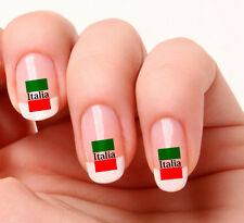20 Nail Art Decals Transfers Stickers #722 - Italia Flag Italy