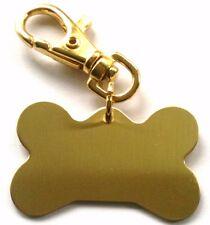Dog ID Tags -Large Dog Bone Shaped PET Tag with Spring Loaded Clip ENGRAVED FREE