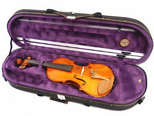 Beautiful Interior 3/4 Enhanced/Moon Shape Designed Violin Case+Free strings set