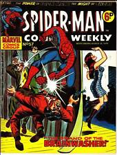 SPIDER-MAN COMICS WEEKLY #57 - 1974 UK B&W Marvel -  Jack Kirby IRON MAN & THOR