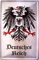 Imperio Alemán 4 Letrero de Metal Placa Signo Arqueado Cartel Lata 20 X 30Cm