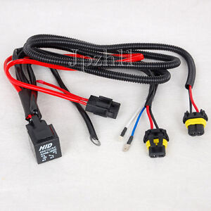 Car HID Xenon Headlight H1/H3 Bulbs Light Relay Fuse Cable Wiring Wire Harness