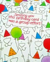 Greeting Card Happy Birthday Bday Group Office Coworker NOS Unused