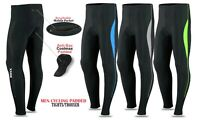 Men Cycling Tights Long Pant Trousers Coolmax Padded Bicycle Compression By ROXX