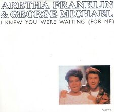 "GEORGE MICHAEL & ARETHA FRANKLIN I Knew You Were Waiting 1986 UK 7"" vinyl single"