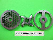#5 Combo Set 2 grinding plates & New cutting knife for meat grinder or mincer
