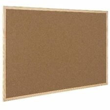 Q-Connect 900 X 600 Cork Notice Pin Board