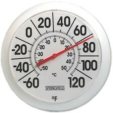 Taylor 90050 Low Profile Thermometer, -60 TO 120 Deg F, 8 In Dia