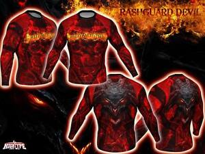 HighType Devil Rash Guard Shorts Leggings MMA BJJ Fightwear Compression