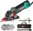 HYCHIKA Mini Circular Saw Laser Hand Held Grinder Cutting Tool Kit 3-3/8?4500RPM