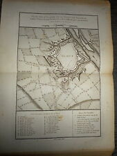 35 - CARTE MAP PLANS Campagne ITALIE 1745 & 1746 ATTAQUES DE VALENCE 1775